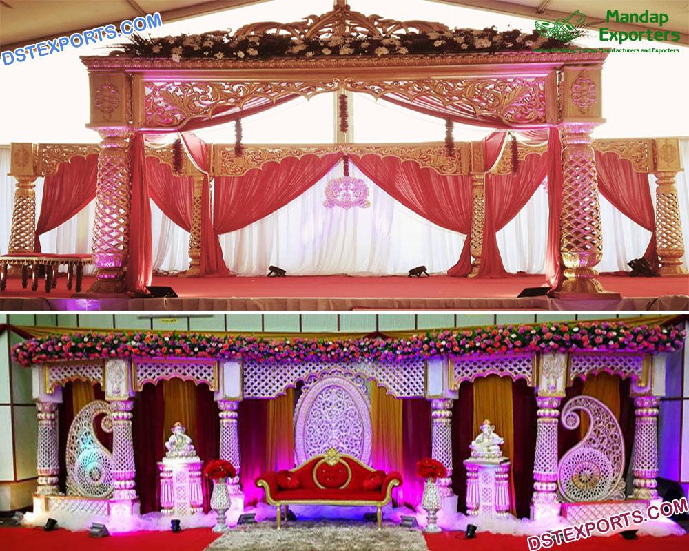 Traditional South Asian Wedding Crown Mandap Germany