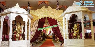 Traditional Wedding Entrance Decor With Temples