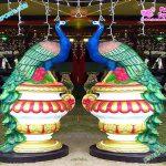 Wedding Peacock Statues for Entrance Decor
