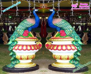 Wedding Peacock Statues for Entrance Decor