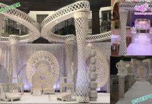 Designer Wedding Plazzo Butterfly Mandap