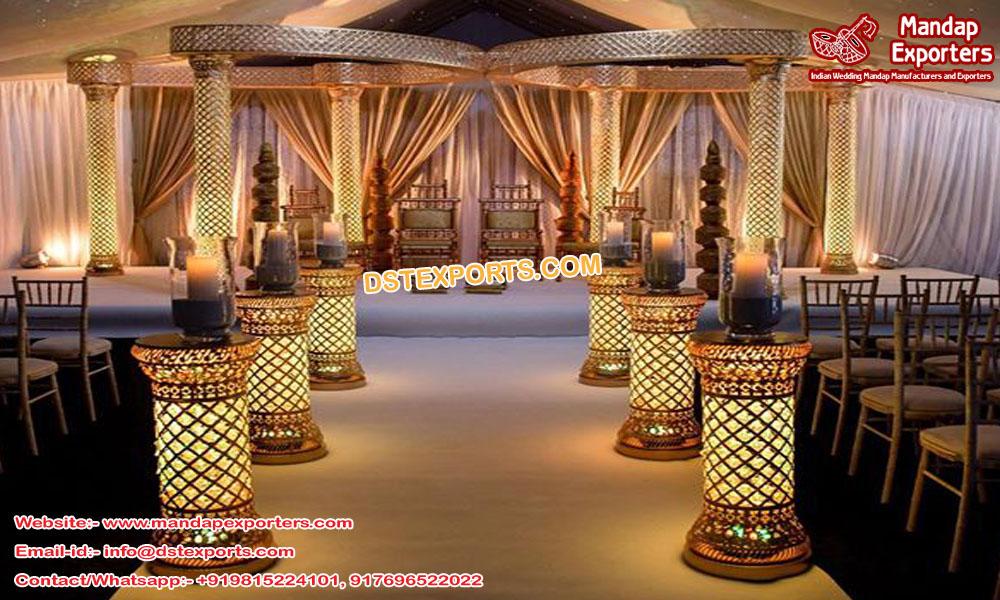 Crystal Butterfly Mandap for Hindu Wedding