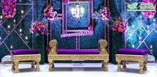 Designer Backless Couch For Mehndi Function
