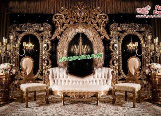 Dreamy Wedding Reception Stage Paris
