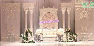 Dreamy Wedding Roman Stage Setup USA
