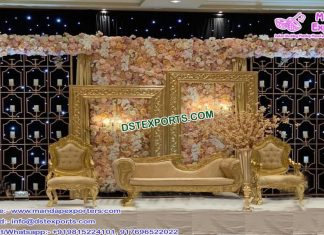 Elegance Wedding Stage with Candle Back-Walls