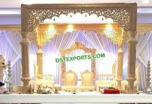 Exclusive Wedding Wooden Look FRP Mandap