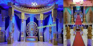 Grand Maharaja Wedding Fiber Carved Mandap