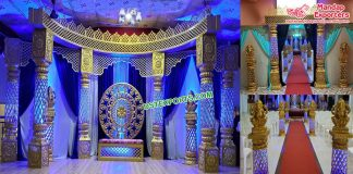 Grand Maharaja Wedding Fiber Crystal Mandap