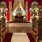 Grand Srilankan Wedding Stage With Temples
