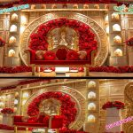 Grand Wedding Ganesha Theme Stage Decor