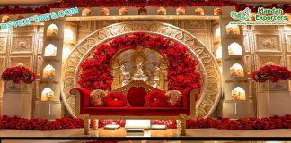 Grand Wedding Ganesha Theme Stage Decor