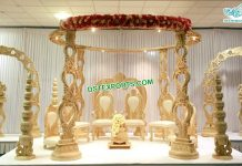 Gujarati Wedding Designer Wooden Mandap USA