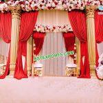 Indian Wedding Golden Roman Mandap Germany