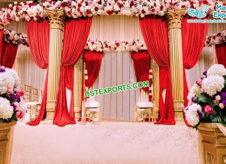 Indian Wedding Golden Roman Mandap Germany