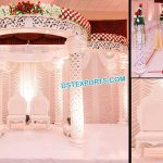 Luxury Wedding White FRP Mandap