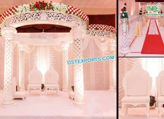 Luxury Wedding White FRP Mandap