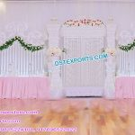 Modern Wedding Fiber Stage With Gate Frames