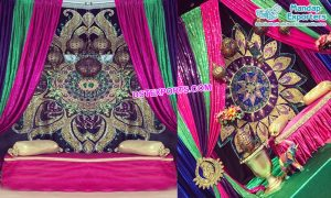 Muslim Sangeet Stage Designer Backdrops Curtains