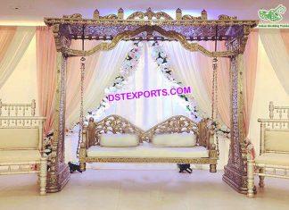 Muslim Wedding Sangeet Stage Jhula Set