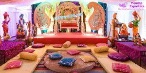 Punjabi Sangeet Stage Decoration Props