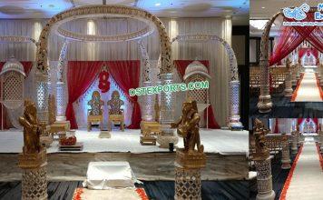 Royal Srilankan Wedding Tusk Mandap London