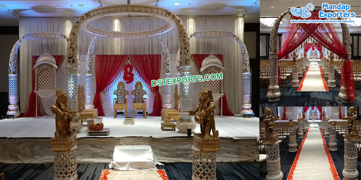 Royal Srilankan Wedding Tusk Mandap London
