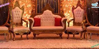 Royal Wedding Golden Carved Furniture Set