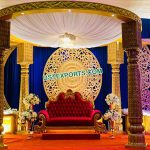 Royal Wedding Mandap With Back Frame Setup