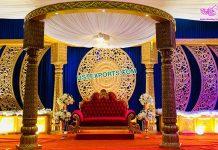 Royal Wedding Mandap With Back Frame Setup