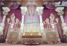 Stylish Moroccan Theme Wedding Stage