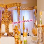 Stylish Wedding Golden Butterfly Mandap New York