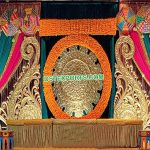 Stylish Wedding Sangeet Stage Paisley Panels