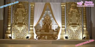 Stylish Wedding Stage With Jhrokha Frames