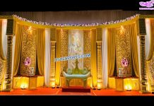 Traditional Wedding Reception Stage Decor