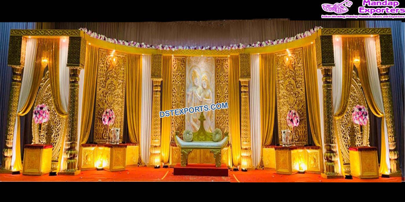 Traditional Wedding Radha Krishna Stage Decor – Mandap Exporters