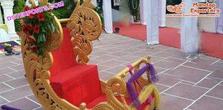 Wedding Designer Peacock Doli For Bride Entry