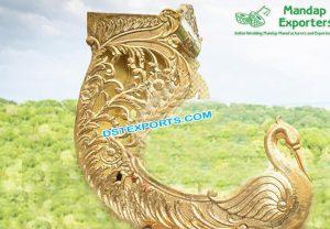 Wedding Golden Peacock Doli For Bridal Entry