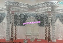 Wedding Plazzo Crystal Butterfly Mandap