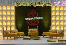 Wedding Stage Jhrokha Candle Walls