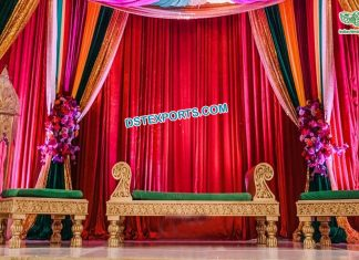 Arabian Mehndi Stage Backless Furniture Set