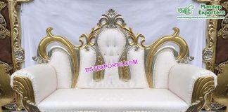 Beautiful Wedding Stage Crown Sofa London