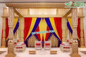 Exclusive Fiber Golden Bollywood Mandap