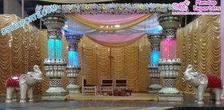 Exclusive Wedding Lotus Fiber Crystal Mandap