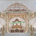 Gujarati Wedding Wooden Mandap With Dom
