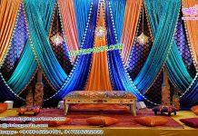 Gujarati Wedding Zari Work Backdrop Curtains