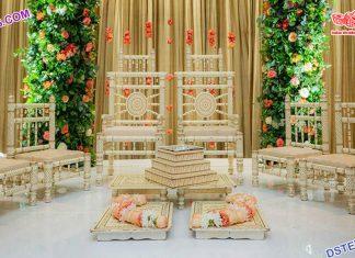 Hindu Wedding Stylish Sankheda Mandap Chairs