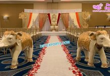 Indian Wedding Elephant Statues Entrance Decor