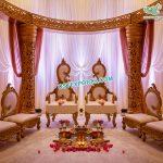 Latest Leaf Designed Wedding Mandap Chairs