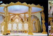 Latest Wedding Wooden Paisley Mandap Germany